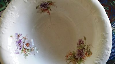Vintage Homer Jaughlin China Large and Heavy Pitcher Basin/Bowl Late 1800's