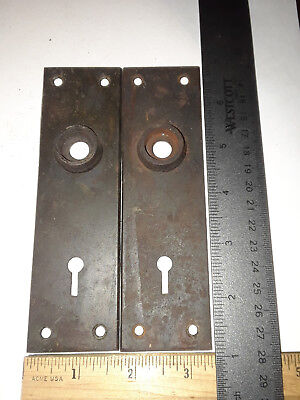 Antique Vintage Mortise Lock   Face plates. Sargent #486 design.