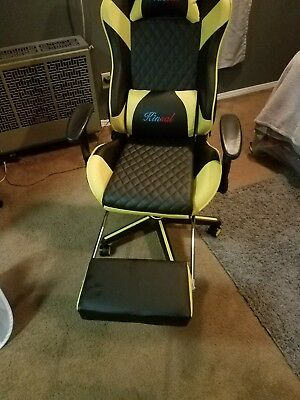 Kinsal Gaming Chair Computer Chair Ergonomic Racing Chair Leather White Original