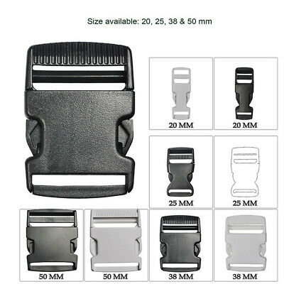 Slide Release Buckles Plastic For Webbing Straps High Quality 20 25 38 & 50 mm