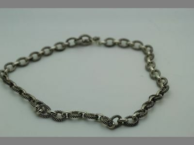 """Solid 925 Sterling Silver Necklace with Toggle Clasp 18.4"""" - VERY Substantial"""