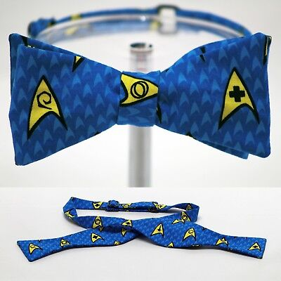 "BOW TIE ""Star Trek"" Symbols - Handmade by Remarkable Bowties - #Rem-TVM-ST-1117"