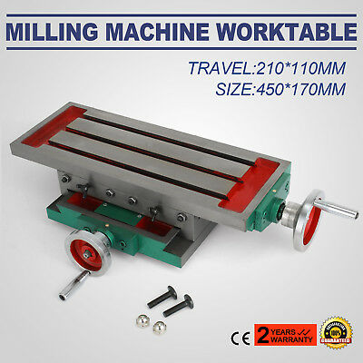 Milling Machine Cross Slide Worktable 17.7×6.7Inch Working table Workhold