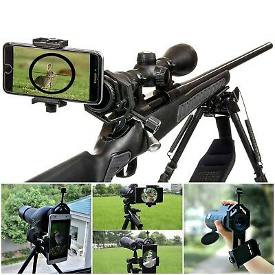 Universal Spotting Scope Cell Phone Adapter Mount Telescope Binocular Holder New