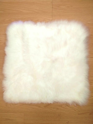 45cm x 45CM Square 100% Genuine Australian Soft Sheepskin Rug cushion- long wool