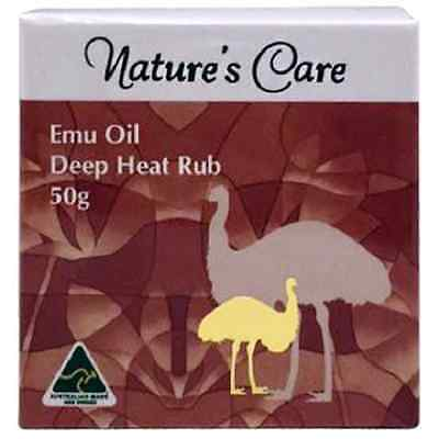 Nature's Care Emu Oil Deep Heat Rub - Pain Relieving * Australian Made (50g x 2)