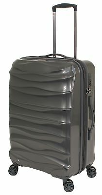 The Australian Luggage Co Fenix 67cm Spinner Suitcase Dark Grey