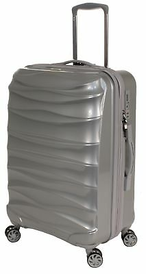The Australian Luggage Co Fenix 67cm Spinner Suitcase Galaxy Silver