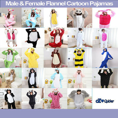 Adult Fleece Unisex Kigurumi Animal Onesie Pajamas Cosplay Costume Sleepwear