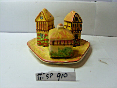 houses on tray 5 pce salt and pepper shakers