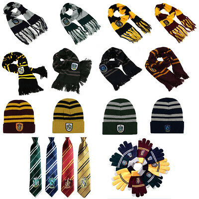 Harry Potter Scarf Tie Hat Gryffindor-Slytherin-Hufflepuff-Ravenclaw Cosplay