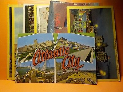 New Jersey, Atlantic City~[10] CARDS Hotels and Beach 1901-1960 Postcards