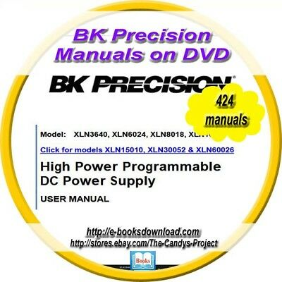 BK Precisions Manuals Pioneer Electronic Testing Industry 424 DVD