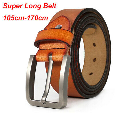 Belts for Men Big &Tall Size XS-9XL Designer Mens Belt 100% Cow Leather Belts