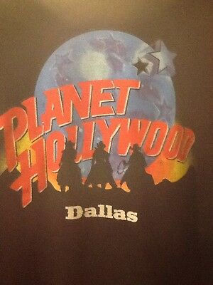 DALLAS Planet Hollywood Dallas Awesome Black T-Shirt XL (see Note Under Grey)