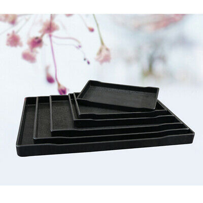 Black Small Rectangle Melamine Tea Coffee Snack Food Serving Tray 10 SIZES