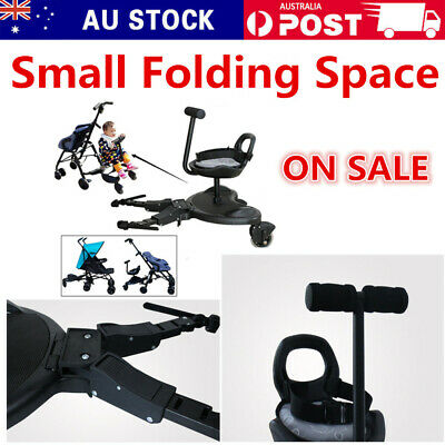 Universal Rider Stand/Sit Toddler Tandem Seat Board Connector For Stroller/Pram