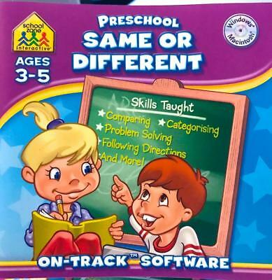 Same or Different for Age 3-5 Win 7 Preschool School Zone Recommend Game Solve