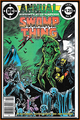 Swamp Thing Annual #2 (1985) Key 1St Full Justice League Dark Alan Moore 5.5 Fn-