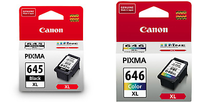Canon Genuine PG645XL+CL646XL High Yield TWIN PACK  Ink Cartridge MG2460/MG2560