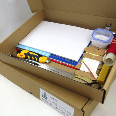 Deluxe Bookbinding Starter Kit - Home Book Binding Craft Tools & Materials