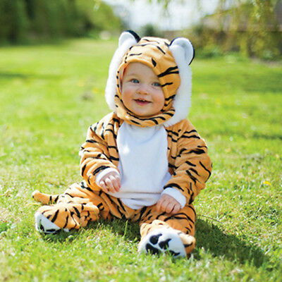 Baby Boy Toddler Boys Kids Deluxe Tiger Jungle Animal Costume Outfit Age 1-2-3