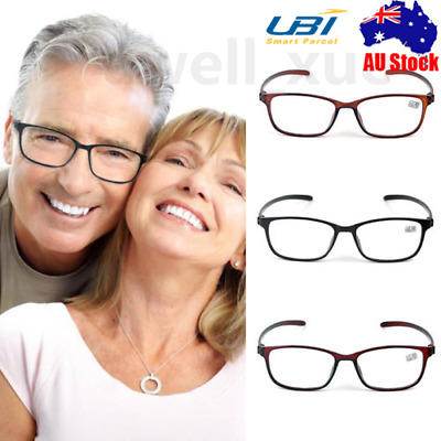 5Pairs TR90 Mens Ladies Magnifying Reading Glasses Nerd Spectacle +1.0~+3.5 AU