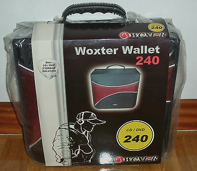 BRIEFCASE WITH ASA- PORTA CDs_DVDs-WOXTER WALLET-240 UNITS-NYLON GRUESO-NUEVO