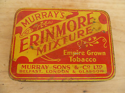 Vintage Old Murrays Erinmore Tobacco Advertising Tin, (384)