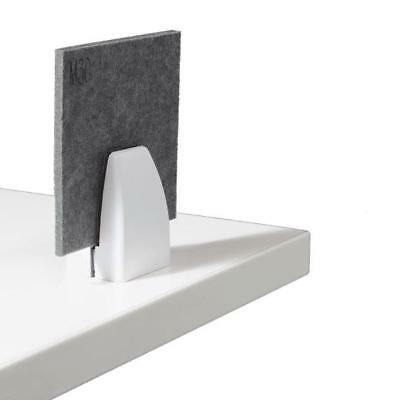 Screen Desk Privacy Panel Bench Worktop Clamp Bracket FACEMOUNT WHITE PACK of 10