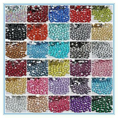 5000 PCS 33 COLOR Crystal Resin round Rhinestones Flatback SIZE 2,3,4,5,6MM