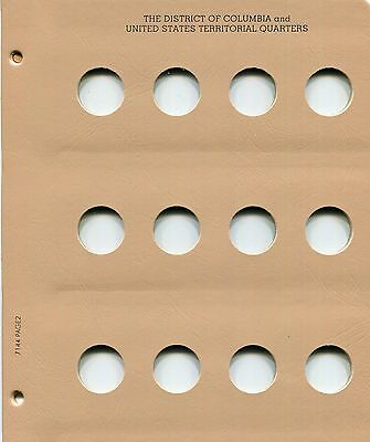 LOOK!! DANSCO Album Page Territory & District of Columbia Quarters Blank #7144-2