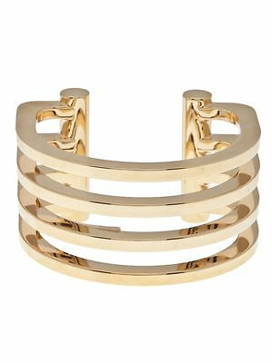 f0b40873eec YSL YVES ~ SAINT LAURENT ~Gold Plated Four Ring Cut Out Cuff Bracelet  1490.00