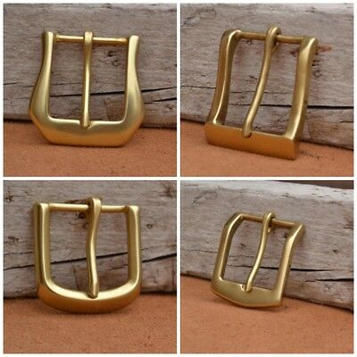 HEAVY Classical Vintage Solid Brass Belt Buckle Tongue Pin Men's Gold Buckles