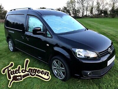 VW CADDY CAMPER Van Tailored Thermal Screen Blind Cover window Silver