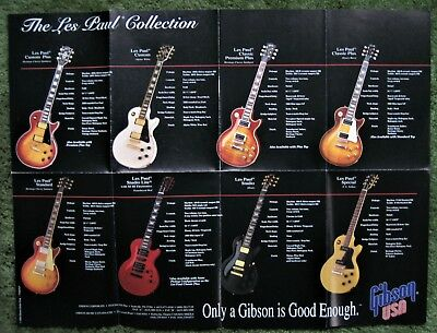 Gibson 100th Anniversary Les Paul Guitar Collection / Aerosmith Poster