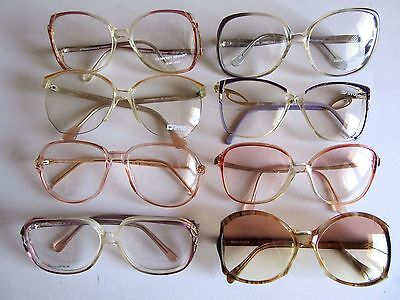 Lot of 8 Women Eyeglass Frames, Assorted Vintage NOS