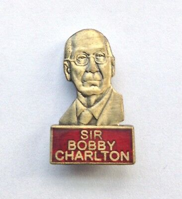 Sir Bobby Charlton Manchester United Football Pin Badge