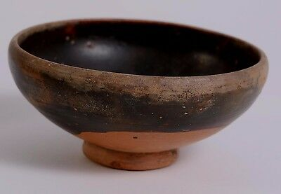 Fine Ancient Greece Greek Apulian Blackware Pottery Pedestal Bowl ca. 350 B.C.
