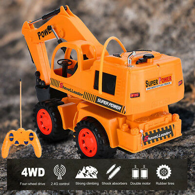 Wireless Stunt Remote Control 5 Channel Engineering Vehicle Electric Excavator O