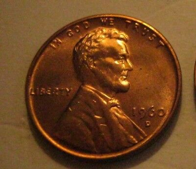 1- 1960-D Small Date Lincoln Memorial Cent Penny UNC.