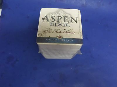 Over 100 Of The Same, Coors, Aspen Edge Beer Coasters, All New In Sealed Pack.