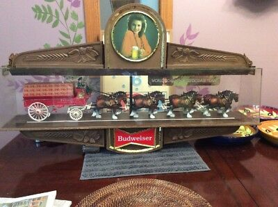 Vintage Budweiser Clydesdale Rotating Carousel Visuals #0: Vintage Budweiser Worlds Champion Clydesdale Team Sign Item