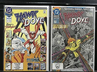 Lot of 2 Hawk and Dove Annuals #1 & 2 (1989 Series DC) Combined Shipping Deal!