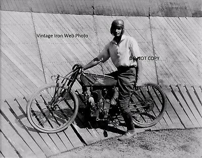 Vintage Excelsior Motorcycle Daredevil 8x10 Photo Reprint High Quality!