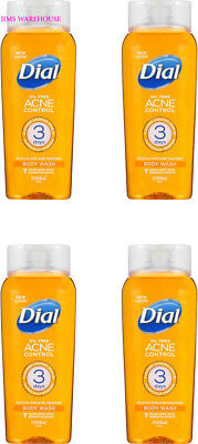 4 Pack Dial Acne Control Deep Cleansing Body Wash 12 fl oz Oil Free 3 Days