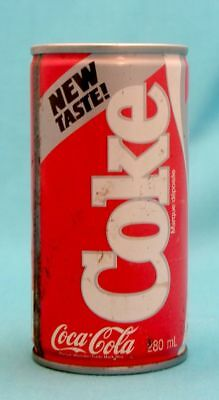 Coca Cola Coke New Taste Toronto Ontario Canada 280 Ml Steel Can