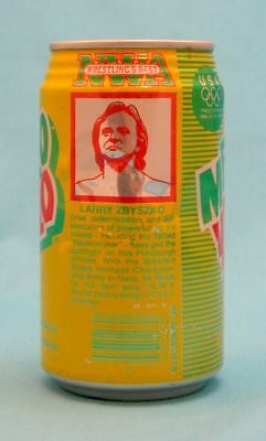 Mello Yello Larry Zbyszko Nwa Wrestling Best Set 12 Oz Aluminum Can
