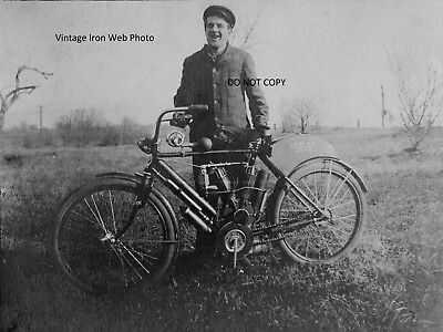 Vintage Indian Motorcycle Camelback 8x10 Photo Reprint High Quality!