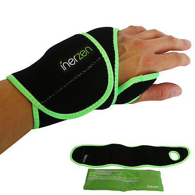 Inerzen Wrist Support Hot and Cold Gel Therapy Wrap - Reusable Gel Pack Included